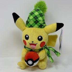 """Pikachu 8"""" Pokemon Collectible Holiday Plush"""